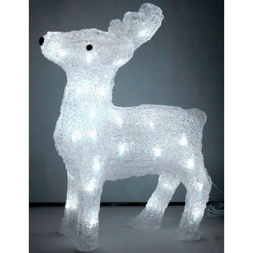 3D Acrylic Reindeer - 60CM High with 176 LED Lights LED Lights