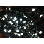 White LED Solar Fairy Lights - Green Cable