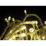 61M 1000 LED Christmas Icicle light Warm White (Clear Cable)
