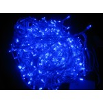 Blue LED Fairy Lights - Clear Cable