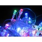 Multi Colour LED Fairy Lights - Clear Cable