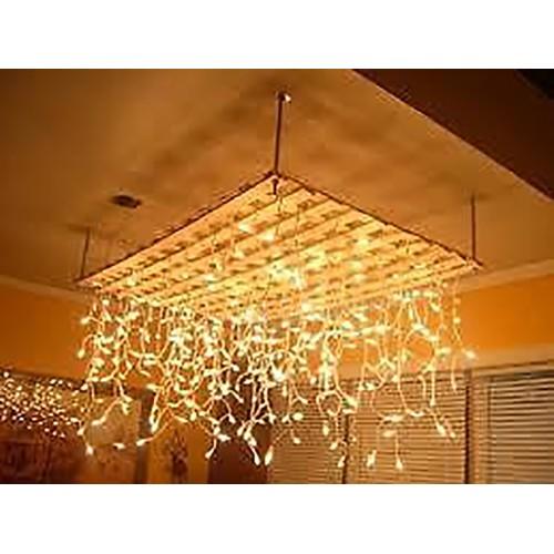 Warm White LED Icicle Lights