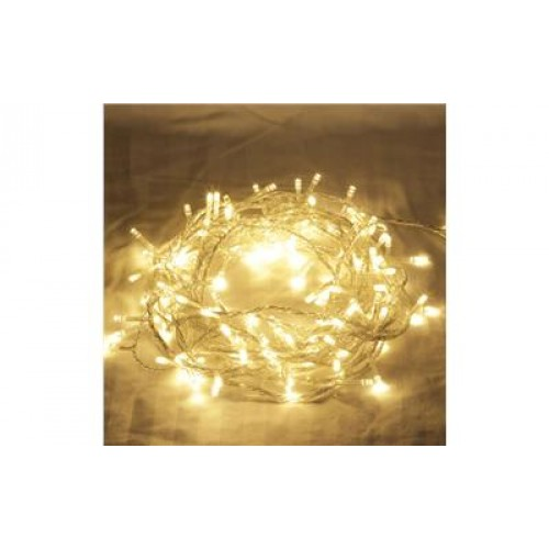 Warm White LED Fairy Lights - Clear Cable