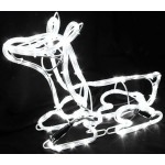3D Deer Family Set of 3 Animated LED White Colour Christmas Motif Rope Lights