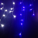 Blue & White LED Icicle Lights