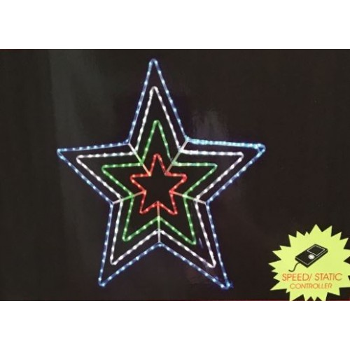 108cm LED 4 Layer Stars