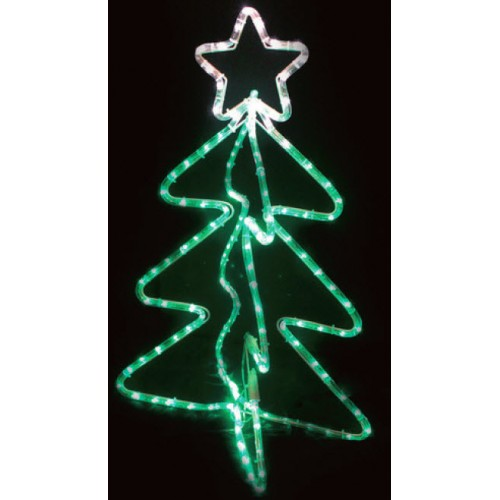 3D Christmas Tree Christmas Motif Rope Lights