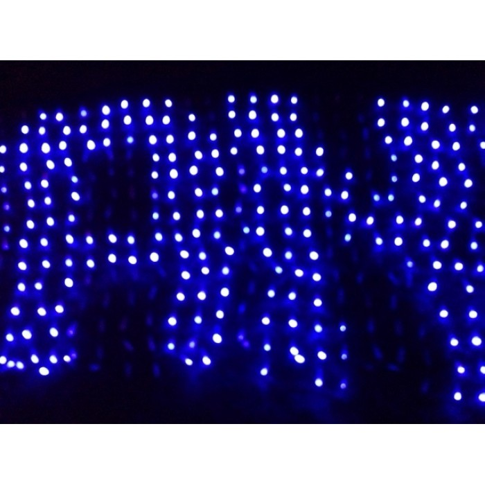 1280 led programmable net light blue colour create your own christmas messsage party sign