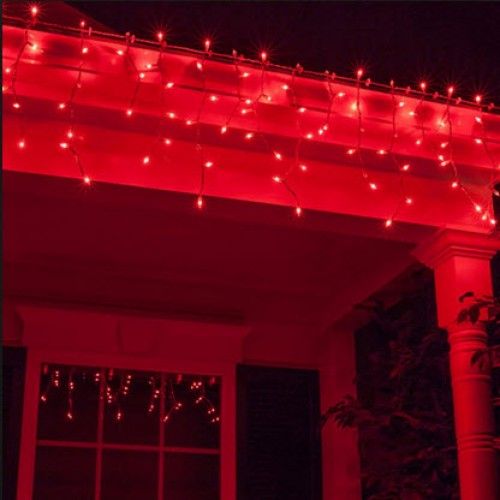Red LED Icicle Lights