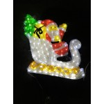 Acrylic Christmas Santa Sleigh Deer- 50CM High with 360 LED Lights