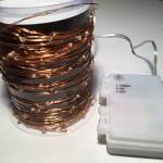 10M 100 LED Micro Bead Lights on Copper Wire - White (Battery Power)