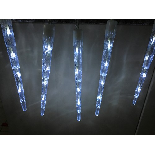 11.6M 120LED Christmas Icicle Tube Lights With Snowing Function - White Colour