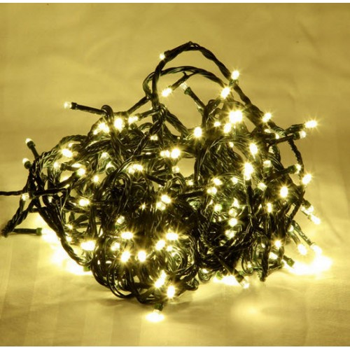 Warm White LED Fairy Lights - Green Cable
