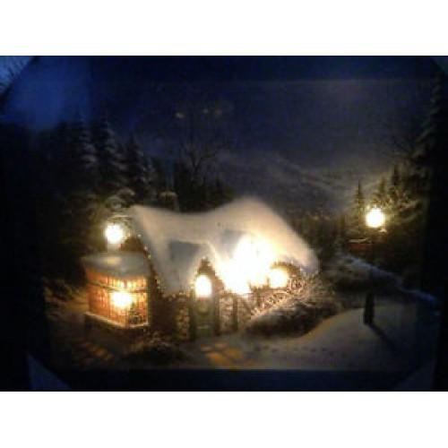 50cm x 40cm LED (House)  Light up Canvas / Picture Frame/ Christmas Decoration