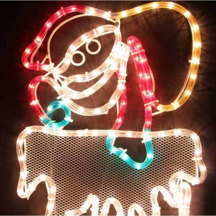 40cm led animated santa climbing chimney christmas motif rope lights led animated santa climbing chimney christmas motif rope lights aloadofball Gallery