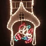 120CM*40CM. LED Animated Santa Climbing Chimney Christmas Motif Rope Lights